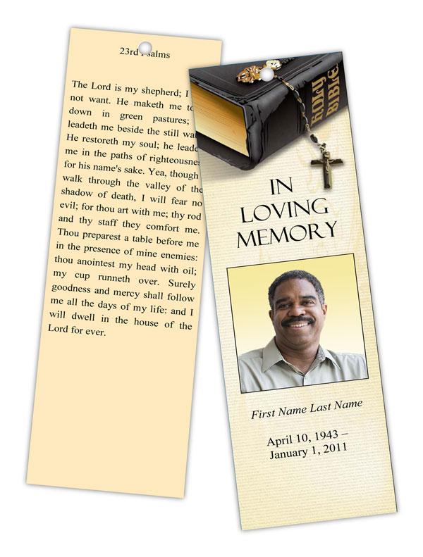 bible memories memorial bookmark template