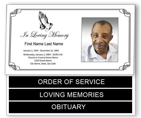 praying hands funeral program template bottom graduated fold