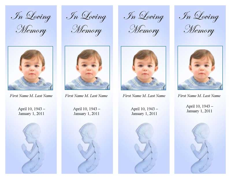 precious blue angel bookmark template