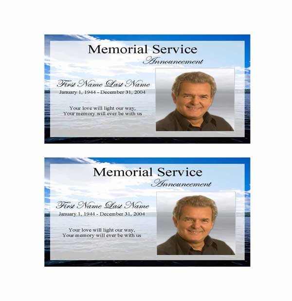 wade in water funeral announcement template