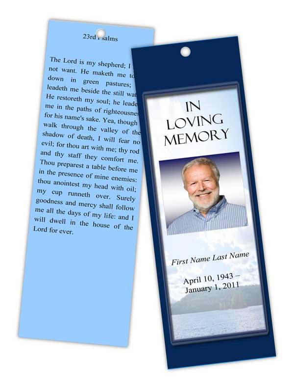 mountain memory bookmark template