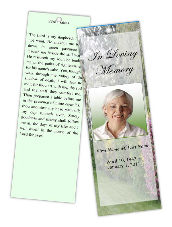 spring garden bookmark template