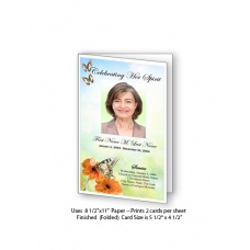 Beautiful Butterfly Funeral Card Template