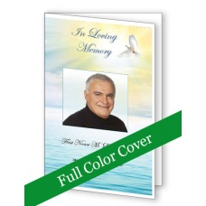 Peaceful Waters Funeral Program Template