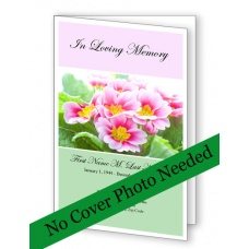 Pink Floral Funeral Program Template
