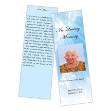 Blue Sky Bookmark Template