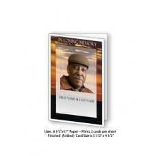 Brown Sunset Funeral Card Template