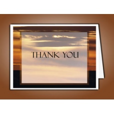 Brown Sunset Thank You Card Template