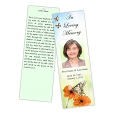 Beautiful Butterfly Bookmark Template