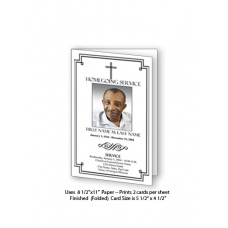 Classic Cross Funeral Card Template