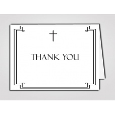 Classic Cross Thank You Card Template