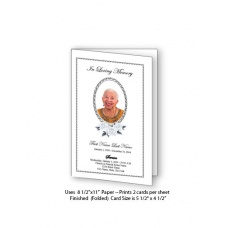 Classic Floral Funeral Card Template
