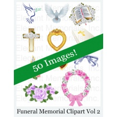 Funeral Program and Memorial Clipart Vol. 2
