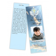 Dove Cross Bookmark Template