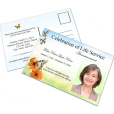 Beautiful Butterfly Funeral Announcement Template