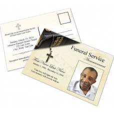 Bible Memories Funeral Announcement Template
