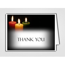 Glowing Memories Thank You Card Template