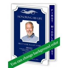 Memorial Plaque Funeral Program Template Graduated Fold