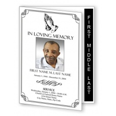 Praying Hands Funeral Program Template - Graduated Fold