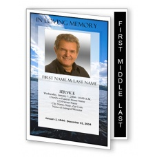 Wade in the Water Funeral Program Template - Graduated Fold