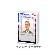 Patriotic (US) Funeral Card Template