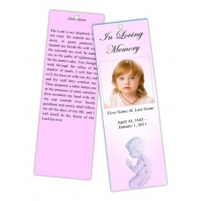 Precious Pink Angel Bookmark Template