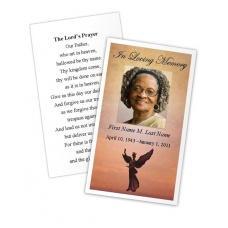Beloved Angel Memorial Prayer Card Template