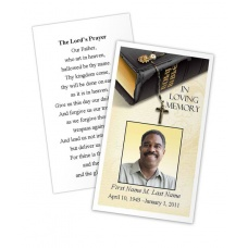Bible Memories Memorial Prayer Card Template