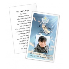 Dove Cross Memorial Prayer Card Template
