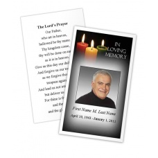 Glowing Memories Memorial Prayer Card Template