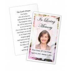 Pastel Memories Memorial Prayer Card Template