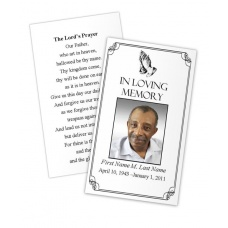 Praying Hands Memorial Prayer Card Template