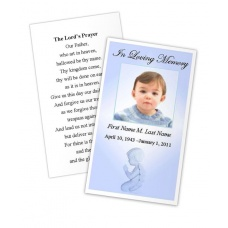 Precious Blue Angel Memorial Prayer Card Template