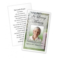 Spring Garden  Memorial Prayer Card Template