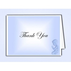 Precious Blue Angel Thank You Card Template