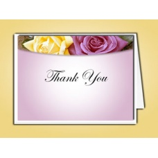 Lovely Purple Rose Thank You Card Template