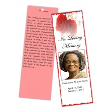 Red Rose Bookmark Template