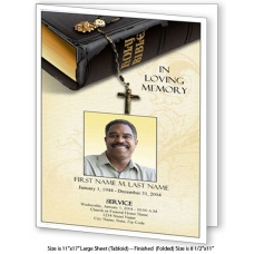 Bible Memories Large Funeral Program Template