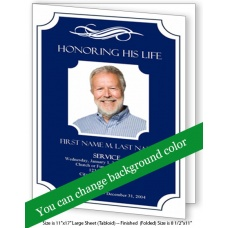 Memorial Plaque Large Funeral Program Template