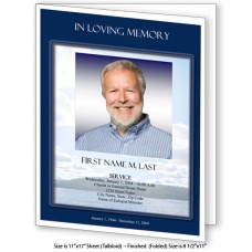 Mountain Memory Large Funeral Program Template