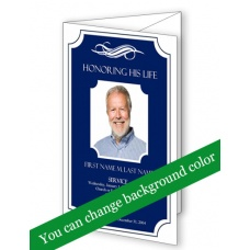 Memorial Plaque Trifold Funeral Program Template