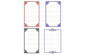 Funeral Program Borders Clipart Vol. 1