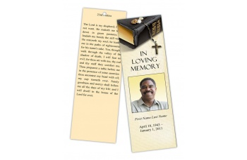 Bible Memories Memorial Bookmark Template MS Publisher
