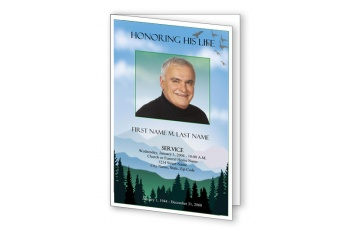 Blue Ridge Funeral Program Template