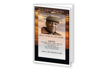 Brown Sunset Funeral Program Template