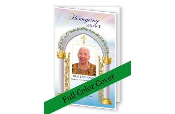 Heavenly Gate Funeral Program Template