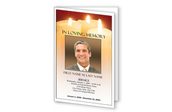 Sacred Candles Funeral Program Template