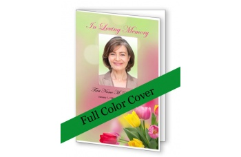 Spring Tulips Funeral Program Template