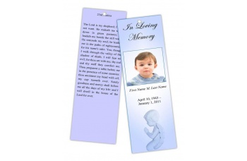 Precious Blue Angel Bookmark Template