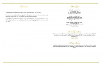 Beloved Angel Large Funeral Program Template